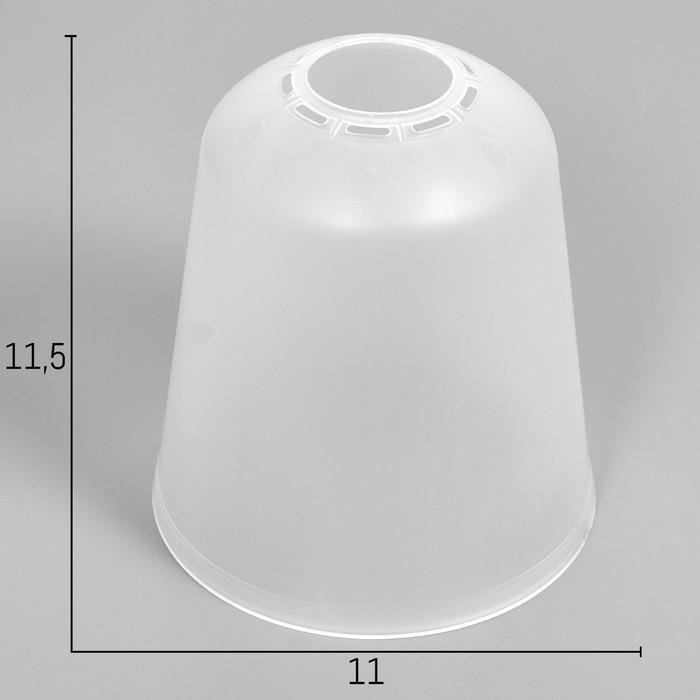 Плафон универсальный Цилиндр Е14Е27 прозрачный 11х11х12см