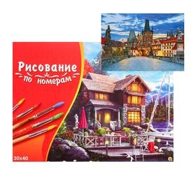 Картина по номерам на холсте 30 × 40 см, «Вечерняя мостовая»