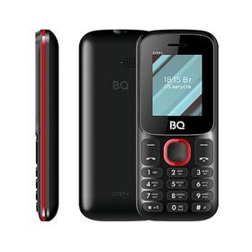 "Сотовый телефон BQ M-1848 Step+ 1,77"", 32Мб, microSD, 2 sim, чёрно-красный"