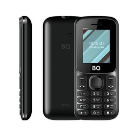 "Сотовый телефон BQ M-1848 Step+ 1,77"", 32Мб, microSD, 2 sim, без СЗУ, чёрный"