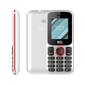 """Сотовый телефон BQ M-1848 Step+ 1,77"""", 32Мб, microSD, 2 sim, бело-голубой"""