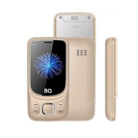 "Сотовый телефон BQ M-2435 Slide, 2,4"", 32Мб, microSD, 2 sim, золотистый"