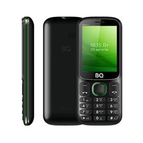 "Сотовый телефон BQ M-2440 Step L+ 2,4"", 32Мб, microSD, 2 sim, чёрно-зелёный"