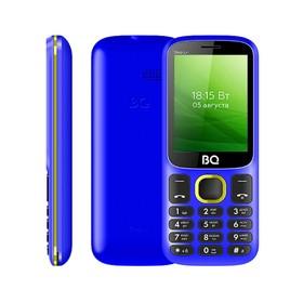 """Сотовый телефон BQ M-2440 Step L+ 2,4"""", 32Мб, microSD, 2 sim, сине-жёлтый"""