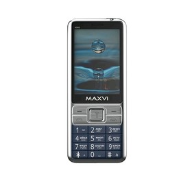 """Сотовый телефон MAXVI X900 2,8"""", 32Мб, microSD, 1,3Мп, 2 sim, синий"""