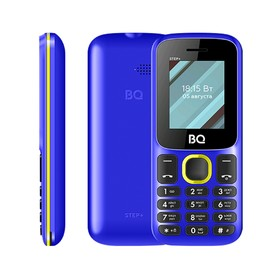 """Сотовый телефон BQ M-1848 Step+ 1,77"""", 32Мб, microSD, 2 sim, сине-жёлтый"""