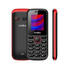 Сотовый телефон STRIKE A10 1.77', 2 sim, 32Мб, microSD, 600 мАч, чёрно-красный Ош