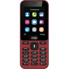 "Сотовый телефон INOI 239 2,4"", microSD, 2 sim, тёмно-красный"