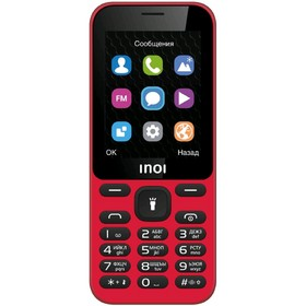 "Сотовый телефон INOI 239,  2.4"", 2 sim, 64Мб, microSD, 600 мАч, красный"