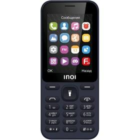 "Сотовый телефон INOI 241 2,4"", microSD, 0,3МП, 2 sim, синий"