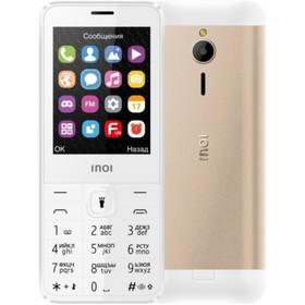 "Сотовый телефон INOI 287 2,8"", microSD, 0,3МП, 2 sim, цвет золото"
