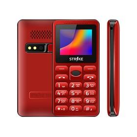 """Сотовый телефон STRIKE S10 1,77"""", 32Мб, microSD, камера, 2 sim, красный"""