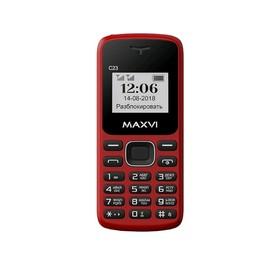 Сотовый телефон MAXVI C23 1,44', 32Мб, microSD, 2 sim, красный Ош