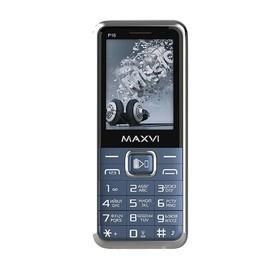 """Сотовый телефон MAXVI P16 2,4"""", 32Мб, microSD, 1,3Мп, 3 sim, синий"""