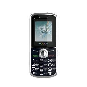 """Сотовый телефон MAXVI T8 1,77"""", 32Мб, microSD, 2 sim, синий"""