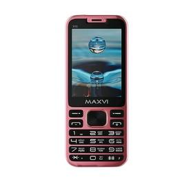 """Сотовый телефон MAXVI X10 2,8"""", 32Мб, microSD, 0,3Мп, 2 sim, розовое золото"""