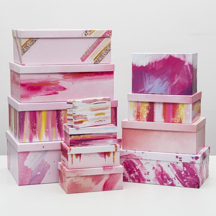 Набор коробок подарочных 12 в 1 «Present», 18 х 11 х 6.5 см - 46,6 х 35,2 х 17.5 см