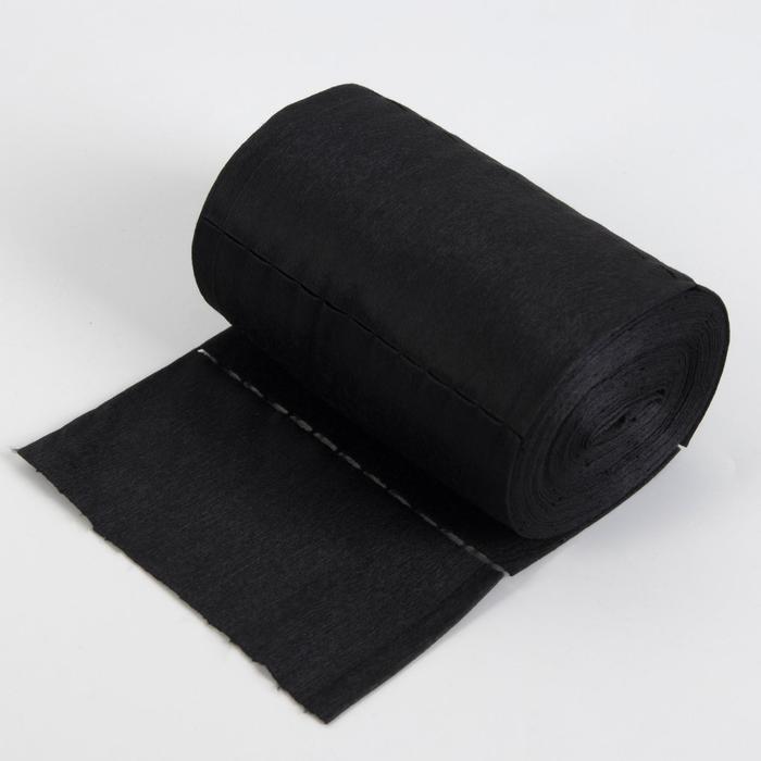 Набор одноразовых воротничков, без липкого слоя, 7 × 40 см, 100 шт в рулоне, цвет чёрный