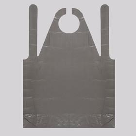 Фартук для мастера, 80 × 120 см, фасовка 50 шт, цвет чёрный