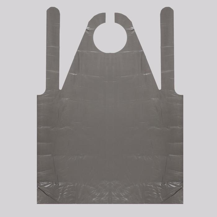 Фартук для мастера, 80 120 см, фасовка 50 шт, цвет чёрный