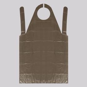 Фартук для мастера, 80 × 140 см, фасовка 50 шт, цвет чёрный