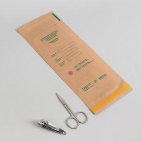 Крафт-пакет для стерилизации, 100 × 250 мм, цвет коричневый