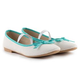 Туфли детские и подростковые, цвет белый, размер 33 Ош