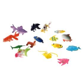 Набор фигурок «Рыбки», 15 штук, МИКС Ош