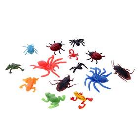 Набор фигурок «Насекомые и лягушки», набор 14 штук, МИКС Ош