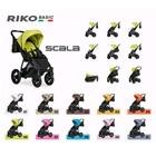 Коляска прогулочная Riko Basic Scala, цвет 05 графитово-коралловый - Фото 2