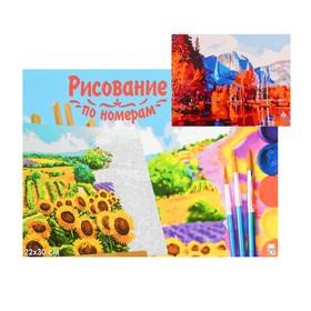 Картина по номерам на холсте 22 × 30 см «Красивый осенний пейзаж»