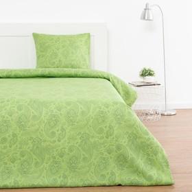 Постельное белье 1,5сп Экономь и Я «Огурцы» 147х210,150х215,70х70- 1шт,цвет зелёный