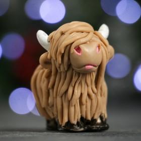 """Мыло фигурное """"Символ года: Коровка шотландская"""" коричневая 50гр."""