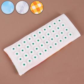 Ипликатор - коврик на мягкой подложке, 14 × 32 см, 40 модулей, цвет МИКС