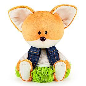 Мягкая игрушка «Лисичка Лика в юбке и безрукавке», 15 см