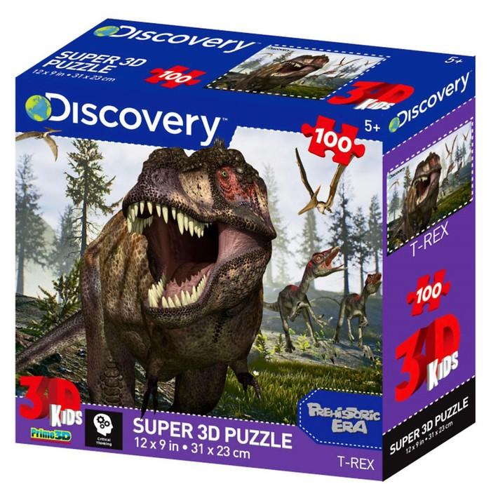 3D пазл 100 элементов «Тираннозавр»