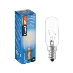 Лампа накаливания для холодильников и вытяжки Uniel, 40 Вт, Е14, 3000 К.