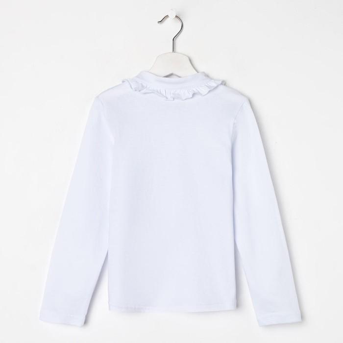Школьная блузка для девочки, цвет белый, рост 128