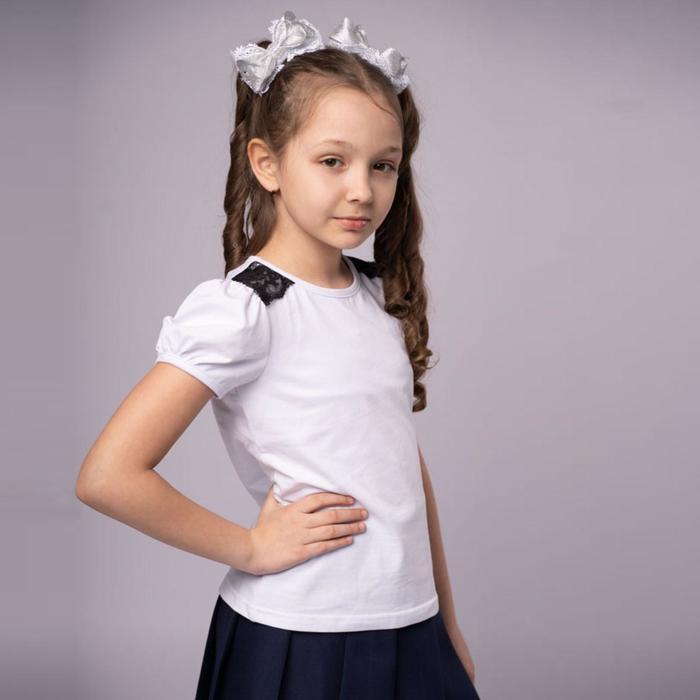 Блузка, цвет белый, рост 128