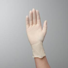 Перчатки хозяйственные латексные Top Glove, размер S, смотровые, нестерильные, неопудренные, цена за 1 шт, цвет белый Ош