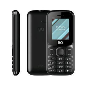 "Сотовый телефон BQ M-1848 Step+ 1,77"", 32Мб, microSD, 2 sim, чёрный"