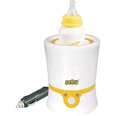 Подогреватель детского питания Selby BW-11, 60 Вт, 40°C, от сети/прикуривателя, бело-жёлтый - Фото 1