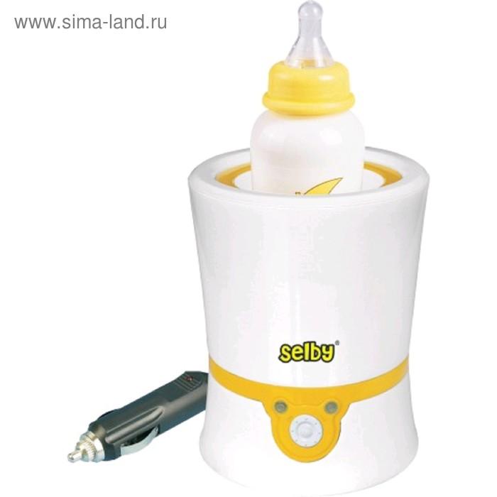 Подогреватель детского питания Selby BW-11, 60 Вт, 40°C, от сети/прикуривателя, бело-жёлтый