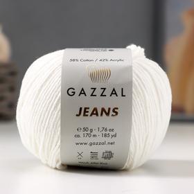 "Пряжа ""Jeans-GZ"" 58% хлопок, 42% акрил 170м/50гр (1101)"