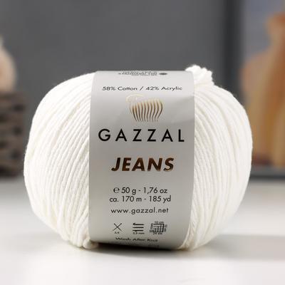 "Пряжа ""Jeans-GZ"" 58% хлопок, 42% акрил 170м/50гр (1101) - Фото 1"