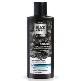 Лосьон после бритья Витэкс For Men Black Clean, с активным углём, 150 мл
