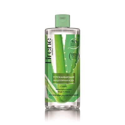 Мицеллярная вода Lirene, успокаивающая, с алоэ, 400 мл