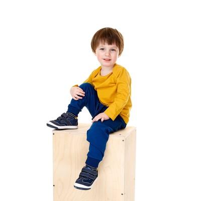 Футболка для мальчика, рост 74 см, цвет жёлтый - Фото 1