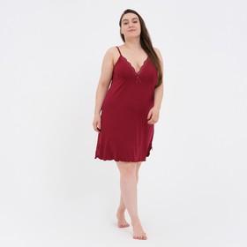 Ночная сорочка женская, цвет бордовый, размер 54