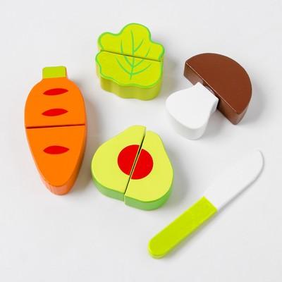 Деревянная игрушка «Овощи для резки» набор - Фото 1